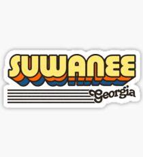 Suwanee, Georgia   Retro Stripes Sticker