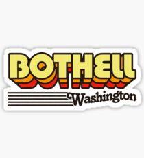 Bothell, Washington   Retro Stripes Sticker