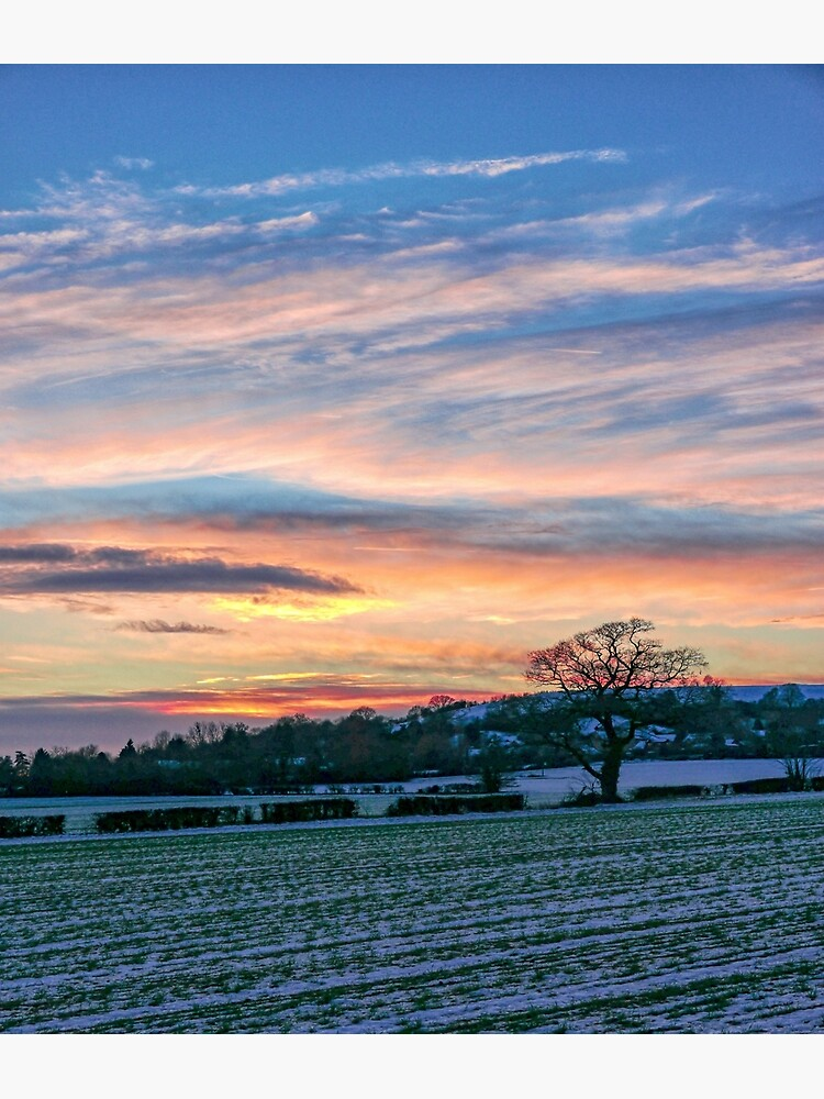 Sunset & Snow by ScenicViewPics