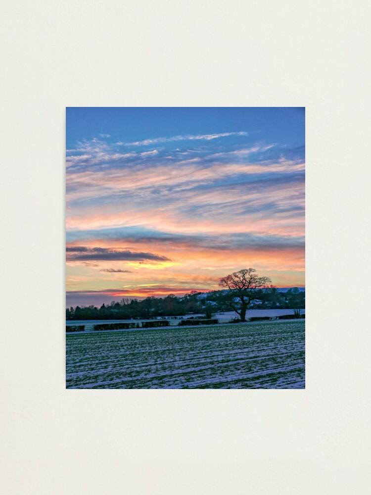 Alternate view of Sunset & Snow Photographic Print
