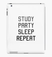 Study Party Sleep Repeat iPad Case/Skin