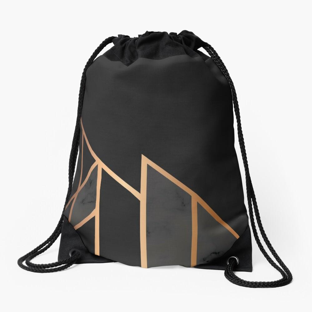 Black & Gold 035 Drawstring Bag