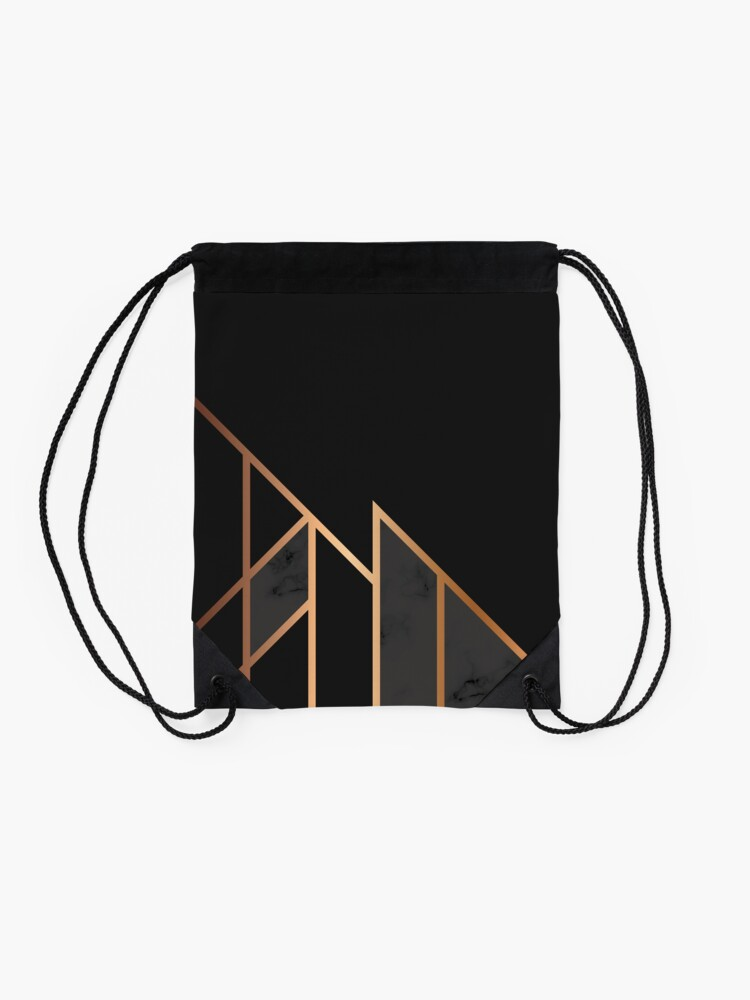Alternate view of Black & Gold 035 Drawstring Bag