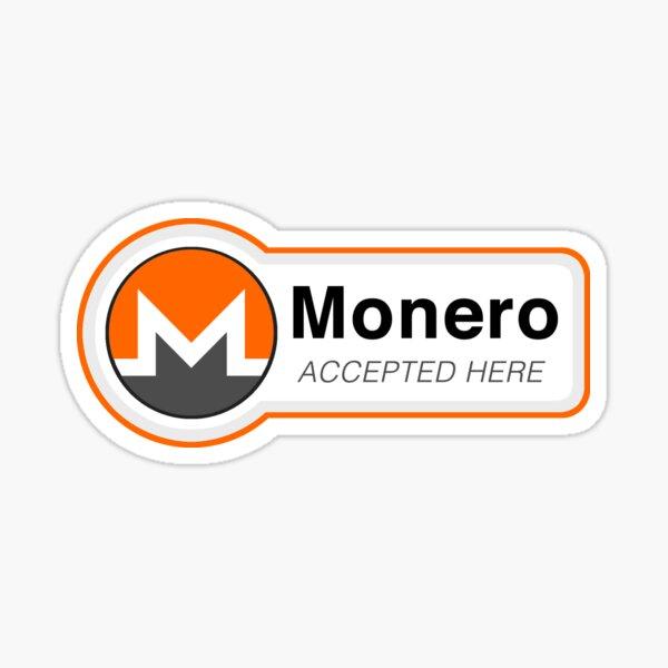 Monero Accepted Here Sticker