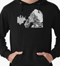 Geometric Black and White Indian Smoker Lightweight Hoodie