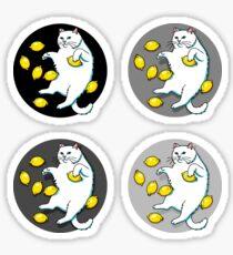 Cat With Lemons Sticker