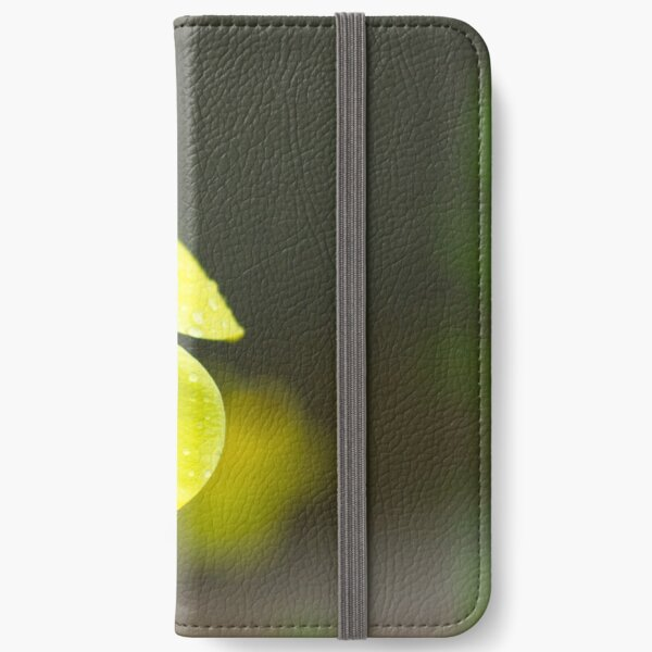 Yellow flower iPhone Wallet