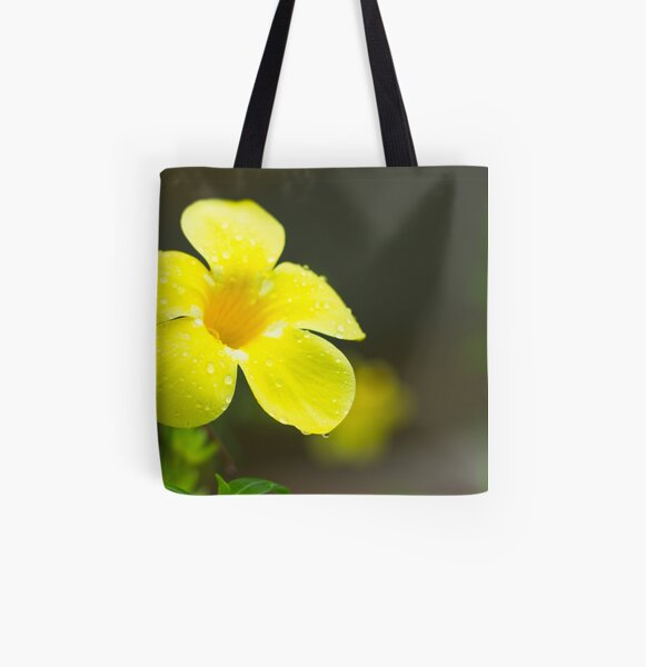 Yellow flower All Over Print Tote Bag