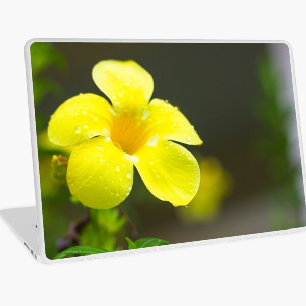 Yellow flower Laptop Skin