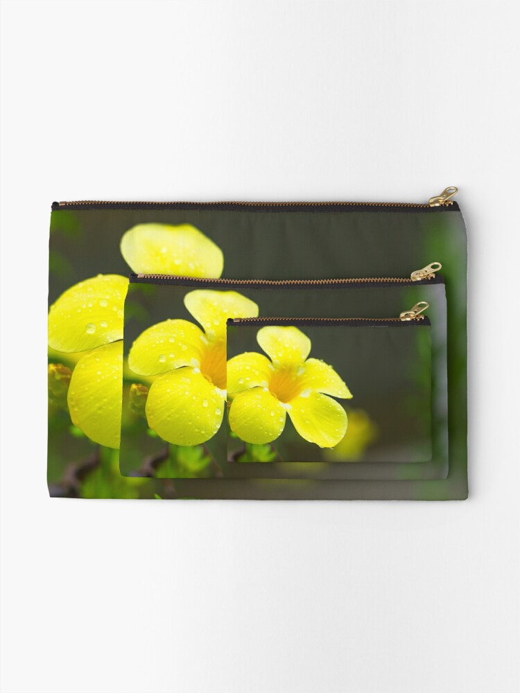 Alternate view of Yellow flower Zipper Pouch