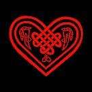 Celtic Heart - Red by Rose Gerard