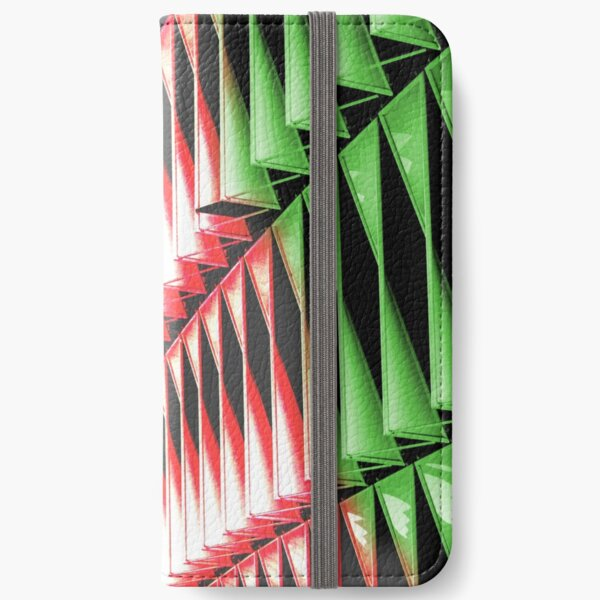 Red green white abstract structure iPhone Wallet