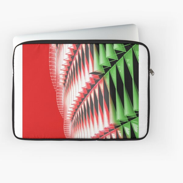 Red green white abstract structure Laptop Sleeve