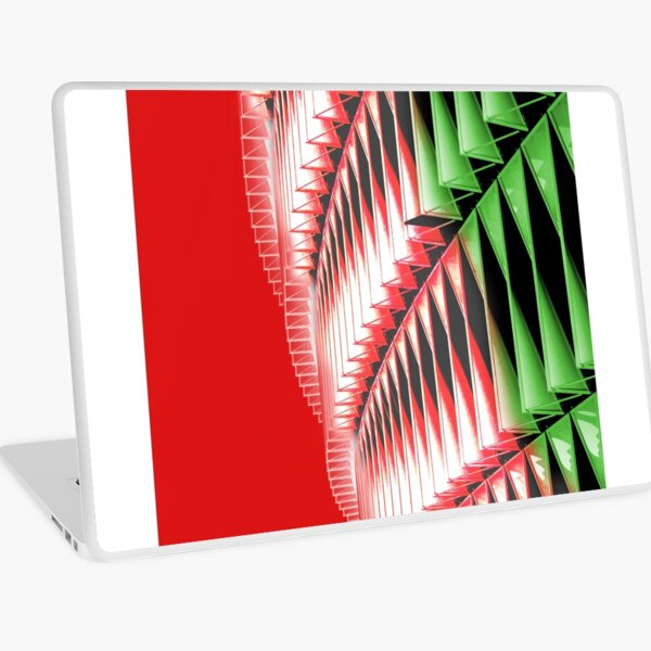 Red green white abstract structure Laptop Skin