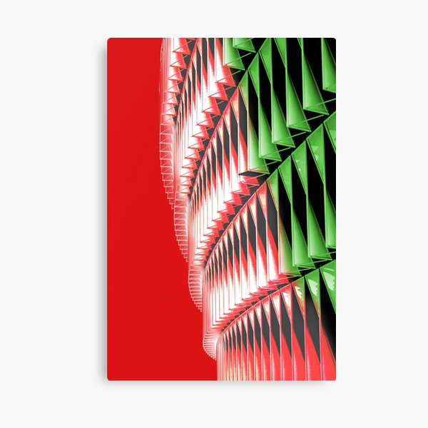 Red green white abstract structure Canvas Print