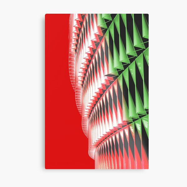 Red green white abstract structure Metal Print