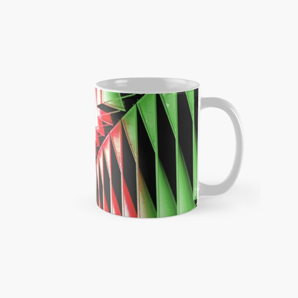Red green white abstract structure Classic Mug