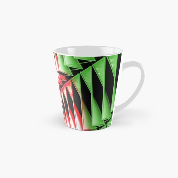 Red green white abstract structure Tall Mug