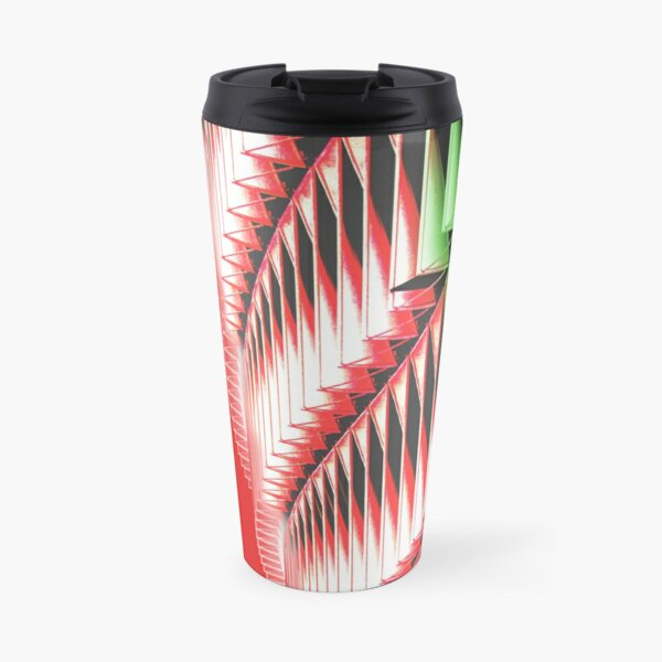 Red green white abstract structure Travel Mug
