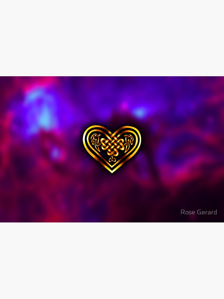 Celtic Heart - Purple and Gold by arkadyrose