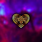 Celtic Heart - Purple and Gold by Rose Gerard