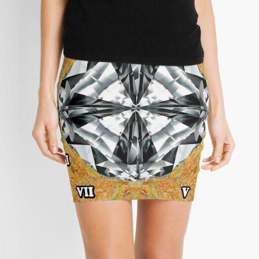 Diamond, ball field, adamant, infield, baseball field, rhomb, rhombus, baseball diamond Mini Skirt