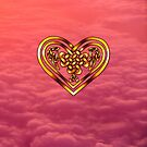 Celtic Heart - Pink Clouds by Rose Gerard