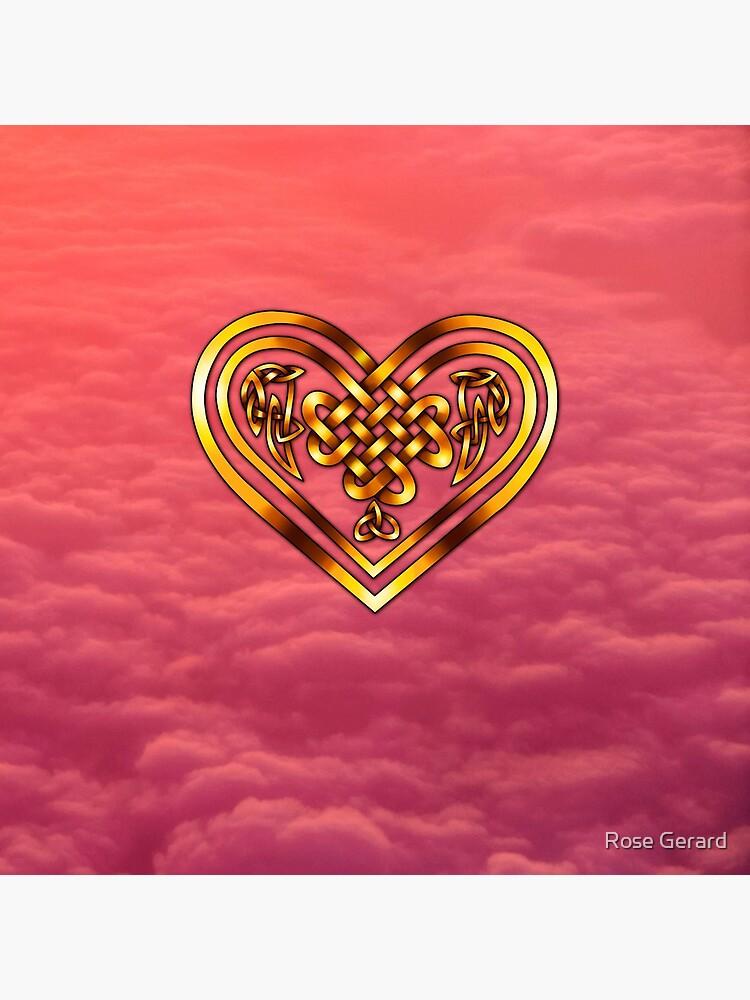 Celtic Heart - Pink Clouds by arkadyrose