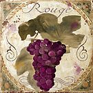Tuscan Table Rouge Wine Grapes by mindydidit