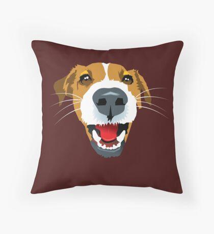Harry the Fox Terrier Throw Pillow