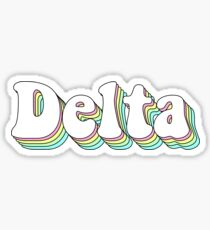 Delta 3D Bubble Greek Sorority Sticker