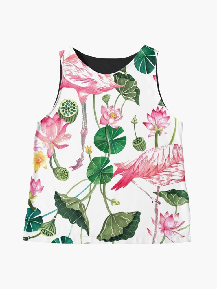 Alternate view of Summer Pink Flamingos Sleeveless Top