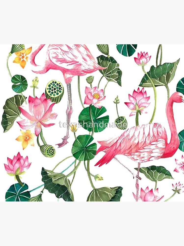Summer Pink Flamingos by texashandmade