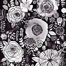 Black&White Floral Mix by TigaTiga