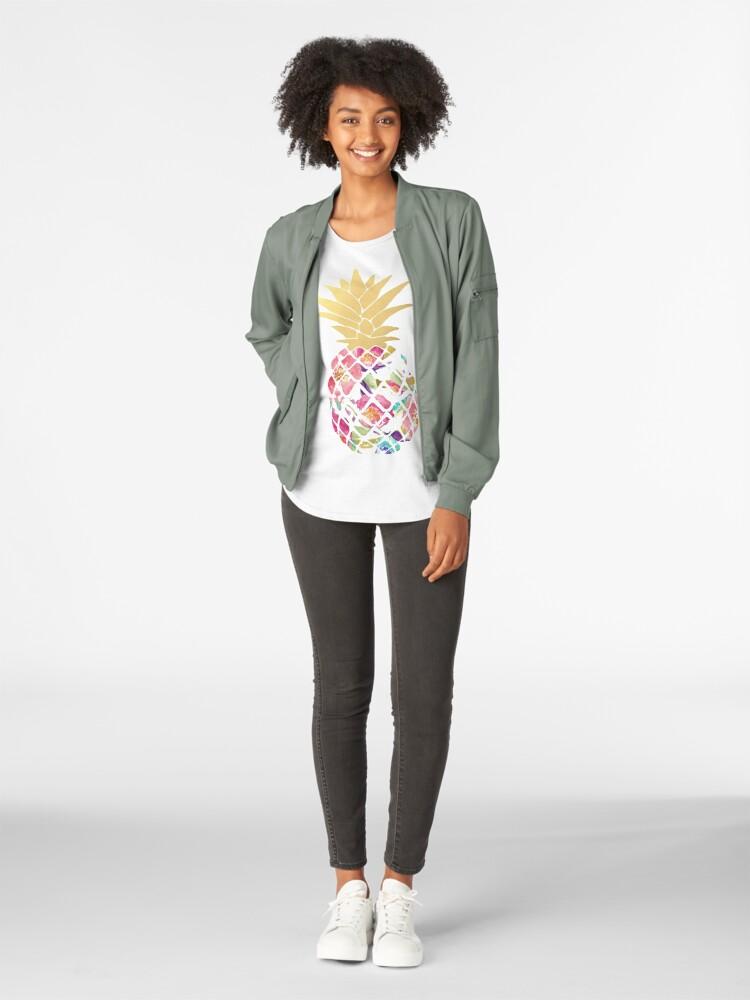 Alternate view of Colorful pastel pineapple Premium Scoop T-Shirt