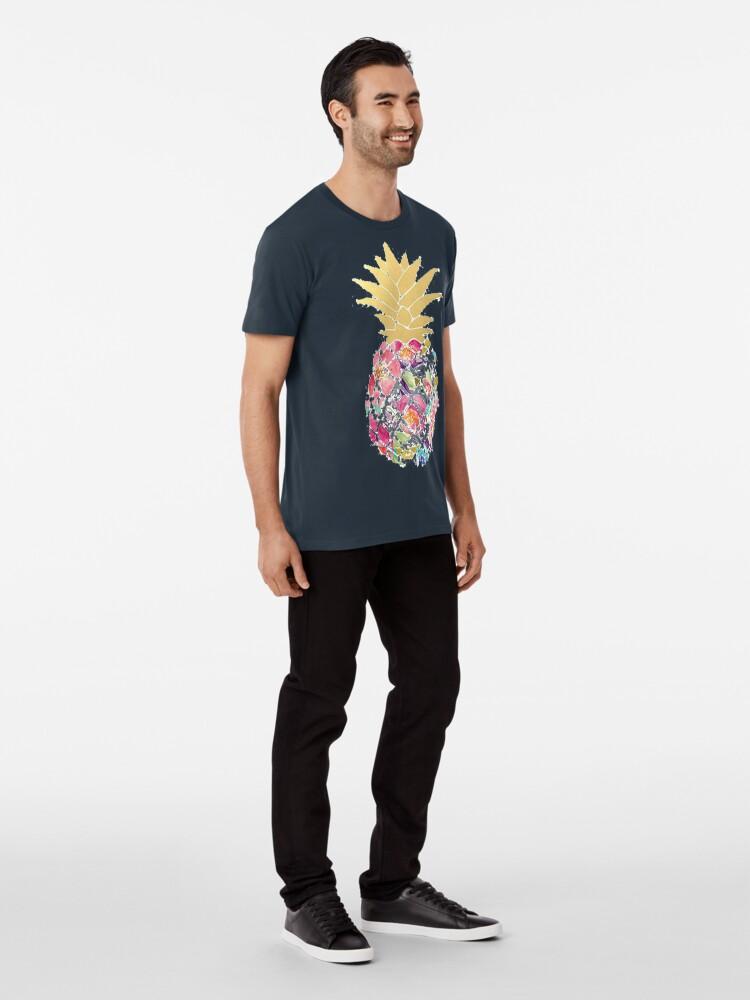 Alternate view of Colorful pastel pineapple Premium T-Shirt
