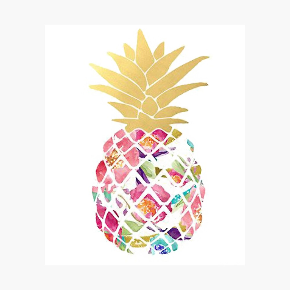 Colorful pastel pineapple Photographic Print