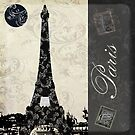Moon Over Paris by mindydidit
