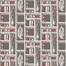 Fornasetti style pattern - objects by adrienne75