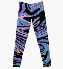 Swirls- Black Holo Leggings