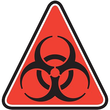 Biohazard Warning Sign by Lisann