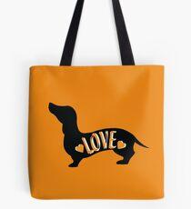 Liebe ist ein Dackel Tote Bag