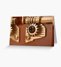 Ukulele tuner gear Greeting Card