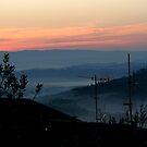 Tuscan Sunrise by hans p olsen