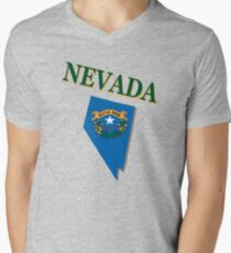 Nevada state flag Men's V-Neck T-Shirt