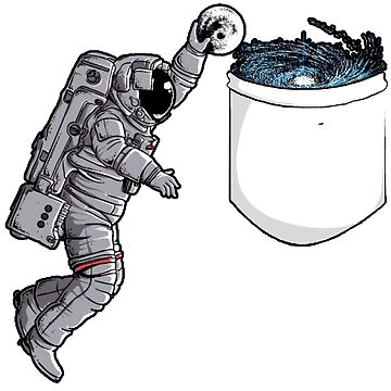 Cosmonaut dunking the moon in a pocket by Mandalorian3