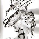 Androgynous Watcher in the Shade by Peter Searle ( the Elder )