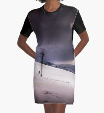 Snow Day Graphic T-Shirt Dress