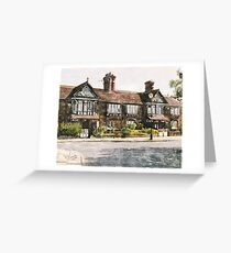 Cottages, Roby Village, UK Greeting Card