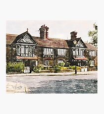 Cottages, Roby Village, UK Photographic Print